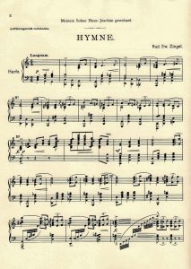 First page, Hymne