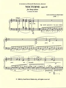 First page, Nocturne by Slatkovsky